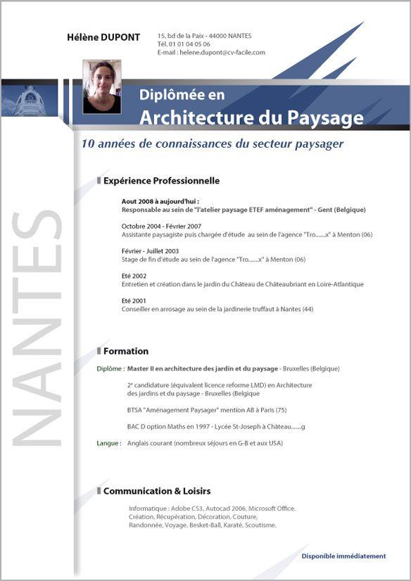 Telecharger Exemple De Cv Etudiant En Architecture Exemple De Cv Etudiant Exemple Cv Cv Etudiant