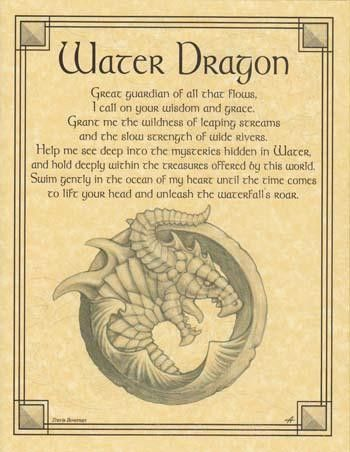 Beseeching the Water Dragon as a guardian, and wise spirit of the water, the…