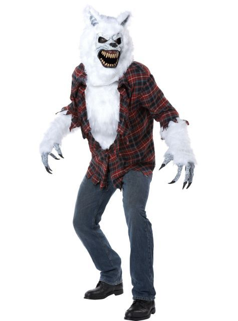 adult white werewolf costume party city - Wolf Costume Halloween