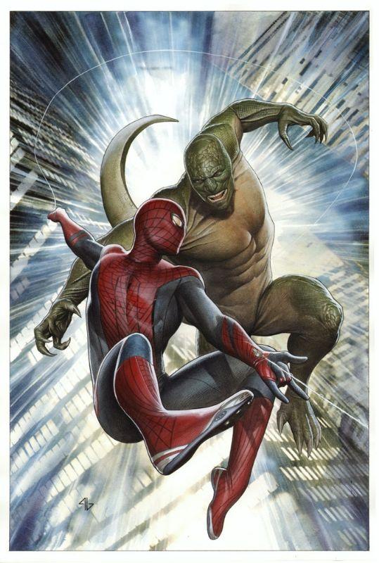 Adi Granov The Amazing Spiderman movie cover   Comic Art