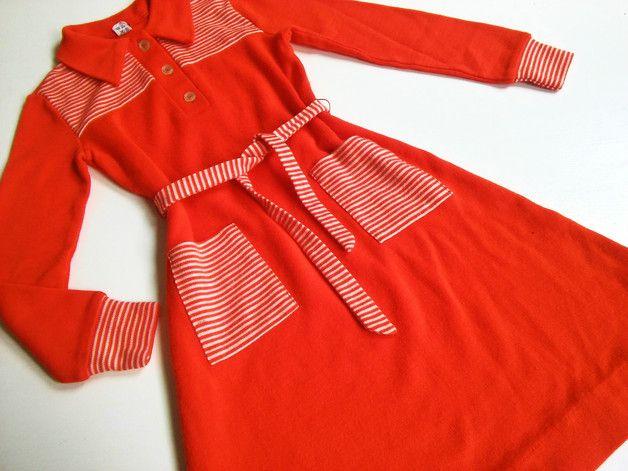 Vintage Kinderkleidung - 128 oldschool ViNtAgE 70er retro Mädchen Kleid - ein Designerstück von LIEBKIND-bremen bei DaWanda