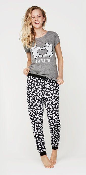 Ensemble de pyjama gris foncé mousiz grey.
