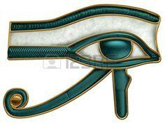 Illustration of the ancient Egyptian Eye of Horus symbol occhio di RA o di Horus