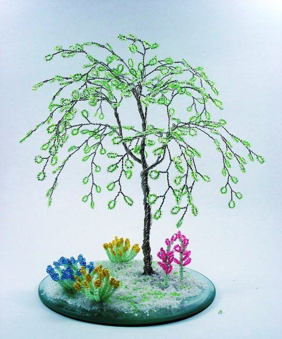 картинки дерево из бисера поэтапно личной жизни агнии