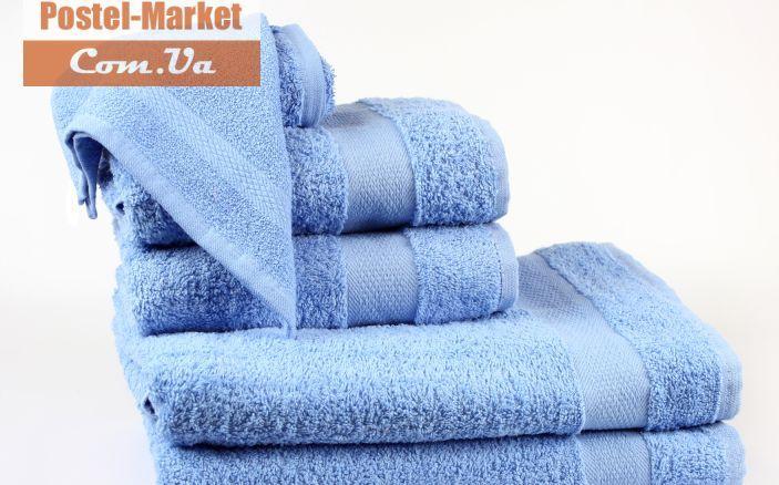 Купить Махровое полотенце Smiley голубое Izzihome в интернет магазине Постель Маркет ( Киев, Украина )