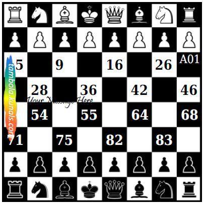 Chess Tambola Housie Ticket
