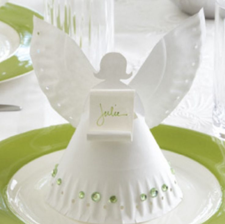 Invite these adorable Angel Table Place Settings to your next celebration. They are made out of paper plates and look great. Check out how easy they are to make now and grab your template.