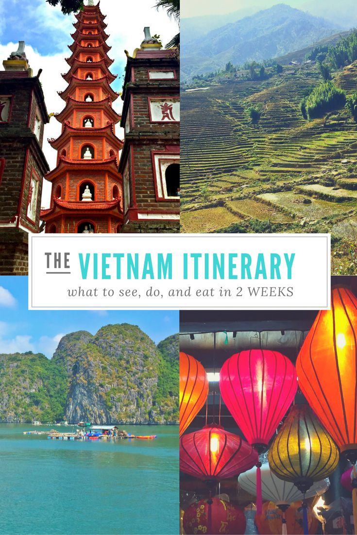 AWESOME VIETNAM ITINERARY! // 2 weeks in Vietnam!   Heading to Vietnam soon?  This pin will be a lifesaver!  I used the exact itinerary to plan my trip and it was AWESOME!
