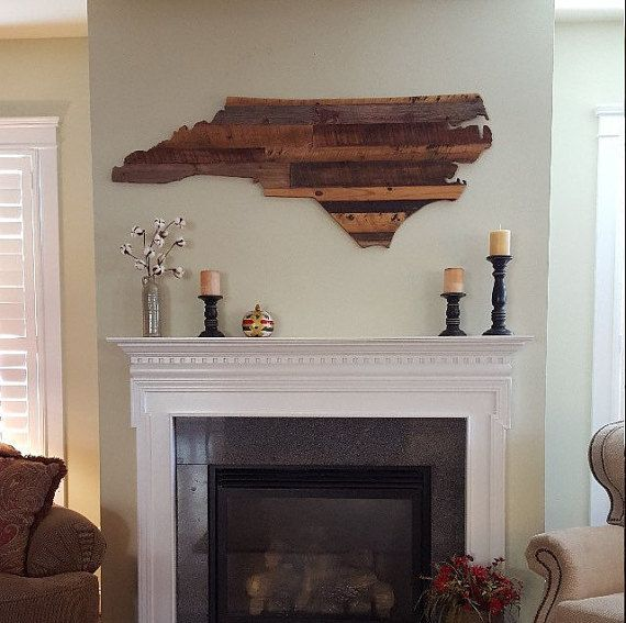 Rustic Wooden North Carolina Wall Art by SimpleRootsDecor on Etsy