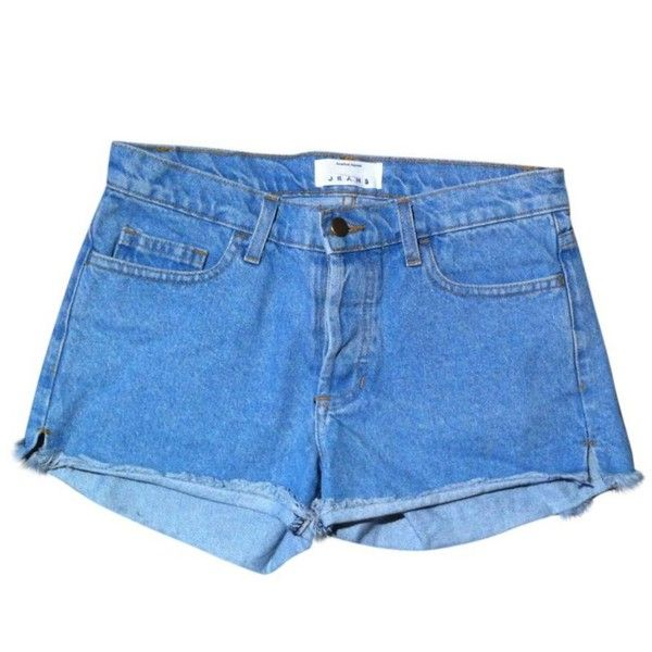 Blue Denim Jeans Shorts AMERICAN APPAREL (1,445 DOP) ❤ liked on Polyvore featuring shorts, bottoms, american apparel, blue shorts and american apparel shorts