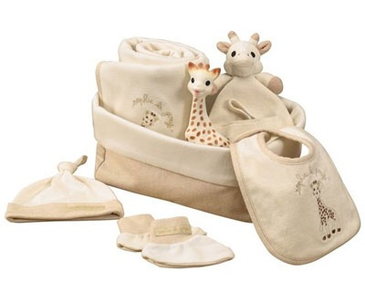 "SOPURE Sophie the giraffe ""My First Hours"" Set"