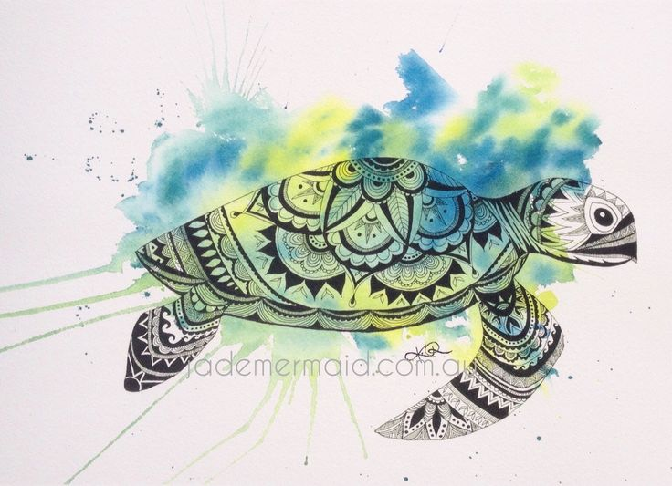 """A4 print of original """"I Love Turtles"""" artwork by Kayleigh Rowbottam. High quality print on Hahnemuhle 100% rag textured watercolour paper"""