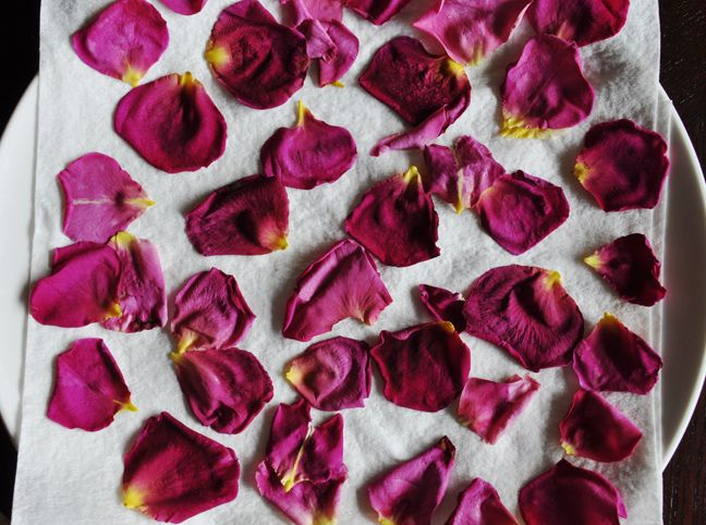 How to dry rose petals #DIY