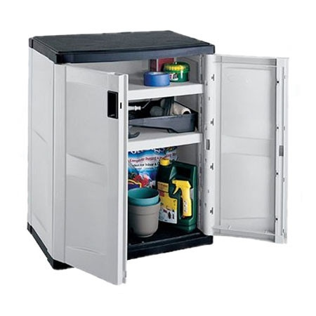 Utility Storage Base Cabinet Resin 36hx30wx20d Outdoor