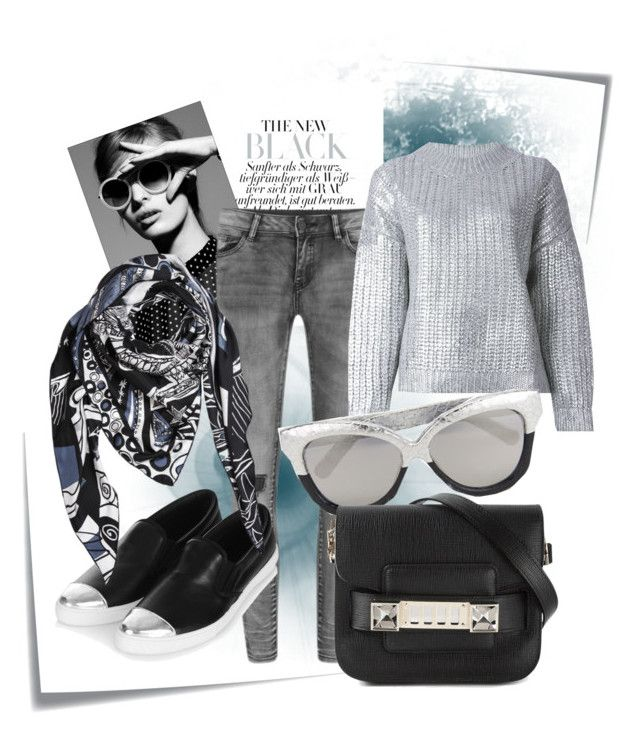 Spring Collection by Bella by raluca-belu on Polyvore featuring polyvore, fashion, style, DKNY, VILA, Topshop, Proenza Schouler, Emilio Pucci, Linda Farrow, Post-It, women's clothing, women's fashion, women, female, woman, misses and juniors