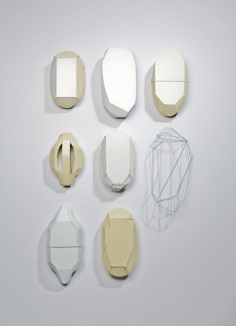 Czech artist Markéta Kratochvílová's extraordinary jewelry runs against the standard grain. A sculptor by training, her pieces stand as a retort to what jewelry is and how we think about it. . - white set of brooches