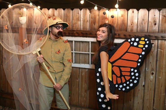Butterfly & catcher- cute couple's costume idea! // Julie Ann Art: Halloween 2014