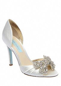 These D'Orsay pumps are sleek, chic, and perfect for a formal affair.Davidsbridal