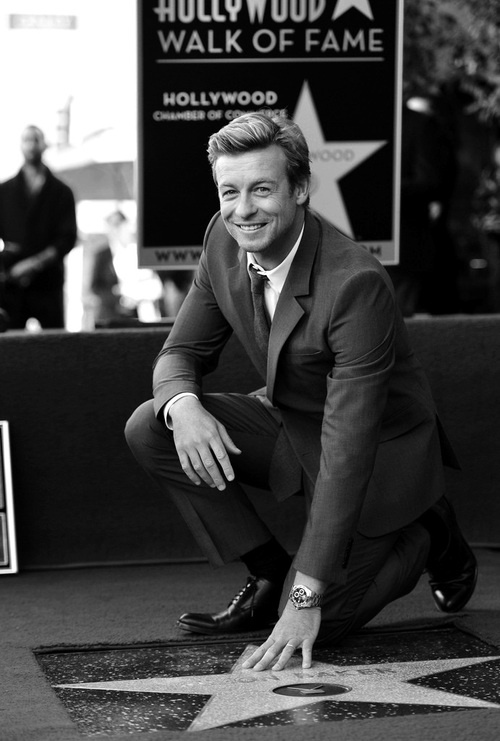 Simon Baker. February 14, 2013. Received his star at Hollywood Walk of Fame.