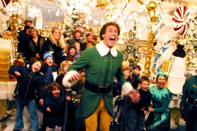 SANTA!!!!!!...Buddy the elf what's your favorite color...I know him...yes it is, not its not, yes it is, no its not, yes it is, if its the north pole then where's all the snow....i'm singing in i'm in a store and i'm singing!!!...you sit on a thrown of lies!...you smell like beef and cheese...i like smiling, smiling's my favorite!