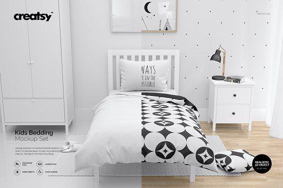 Frame Mockup Kids Bedding and Frames Set Photoshop Kids Bedding Mockups Children Beddings Kids Bedding and Frames Mockup Kids Room