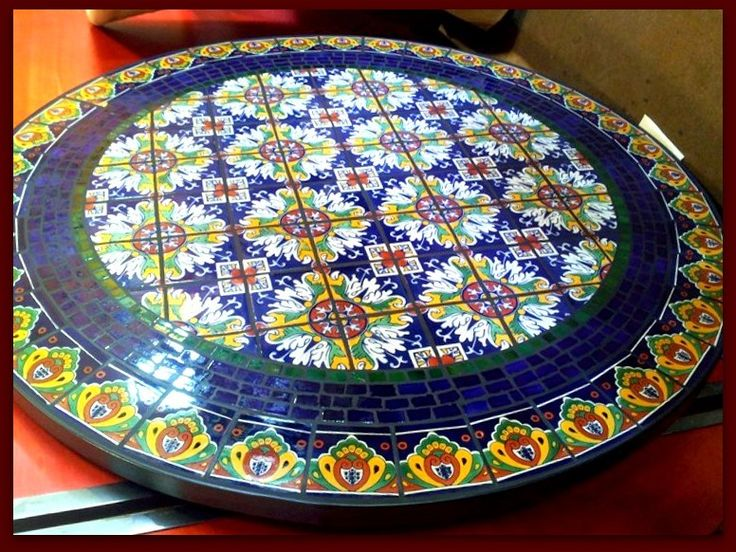 spanish design garden table round mosaic - Google Search ...