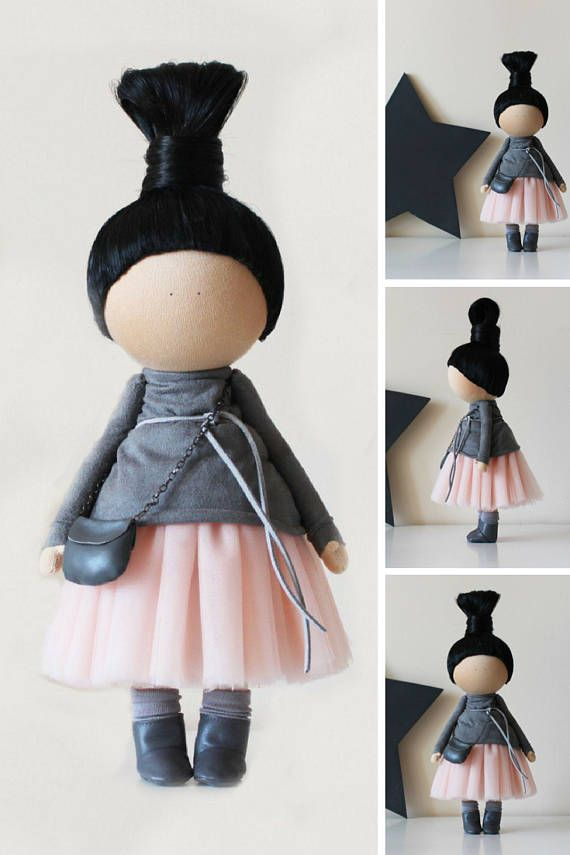 Doll by photo Portrait doll Textile doll Tilda doll Handmade