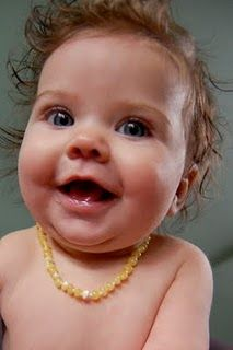 Amber Teething Necklace - best thing ever!!! Got ours at Hazelaid.com and LOVE it!