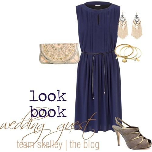 look book | wedding guest | navy dress |