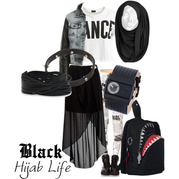 """""""Edge Style with Hijab."""" by nabillasyarah on Polyvore"""