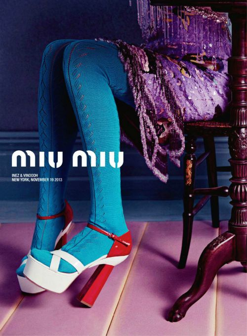 Miu Miu Spring/Summer 2014 Advertising Campaign, ph. by Inez van Lamsweerde…