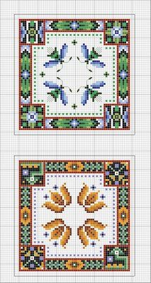 Biscornu Free Charts... no color chart available, just use the pattern chart as your color guide.. or choose your own colors... | One pinner stated: talking of biscornus i have just spoken to the nice lady at sew and so ...