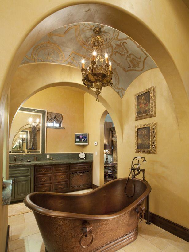 Contemporary | Bathrooms | Lori Dennis : Designer Portfolio : HGTV - Home & Garden Television#/id-4436/room-bathrooms: Bathtubs Obsession, Bathtubs Decor, Bathtubs Recipe, Bathroom Bathtubs, Bathtubs Design, Awesome Bathtubs, Copper Bathtubs Lov, Bathtubs Gorge, Bathtubs Artsandcraft
