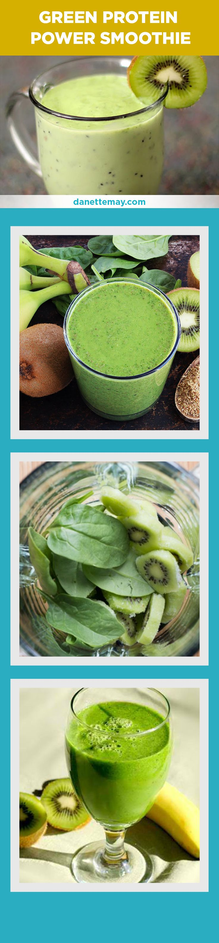 This Green Protein Smoothie Recipe will give you so much energy! Click the image for the recipe.