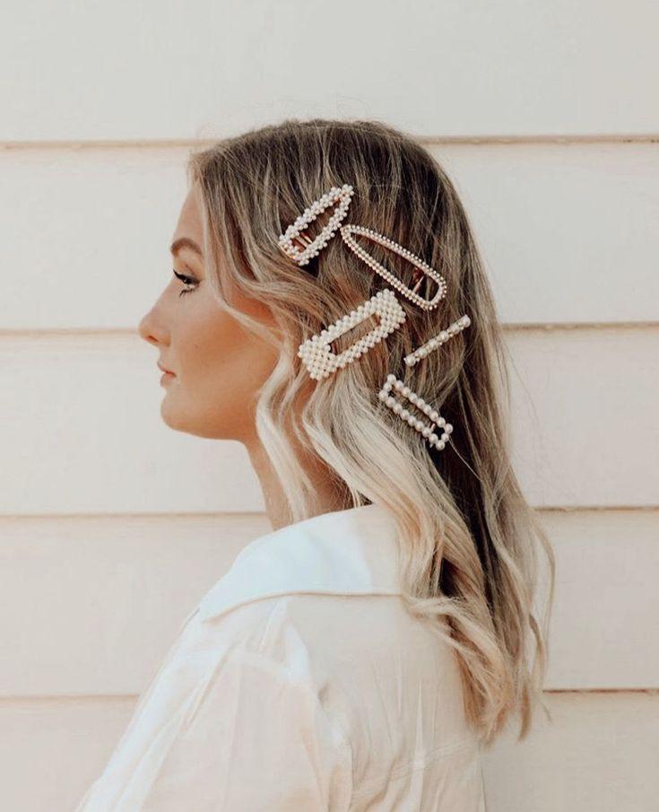 Perlenhaar Korea Clip Set Shell Haarspangen Mode für Frauen Mädchen Haarnadeln Zubehör