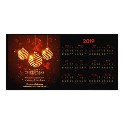 Merry Christmas 2019 Calendar Photocard Card - merry christmas diy xmas present gift idea family holidays