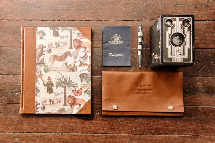 Travel Collection by SB Libris - handcrafted leather travel wallets, journals, albums. #travel #boundinbendigo