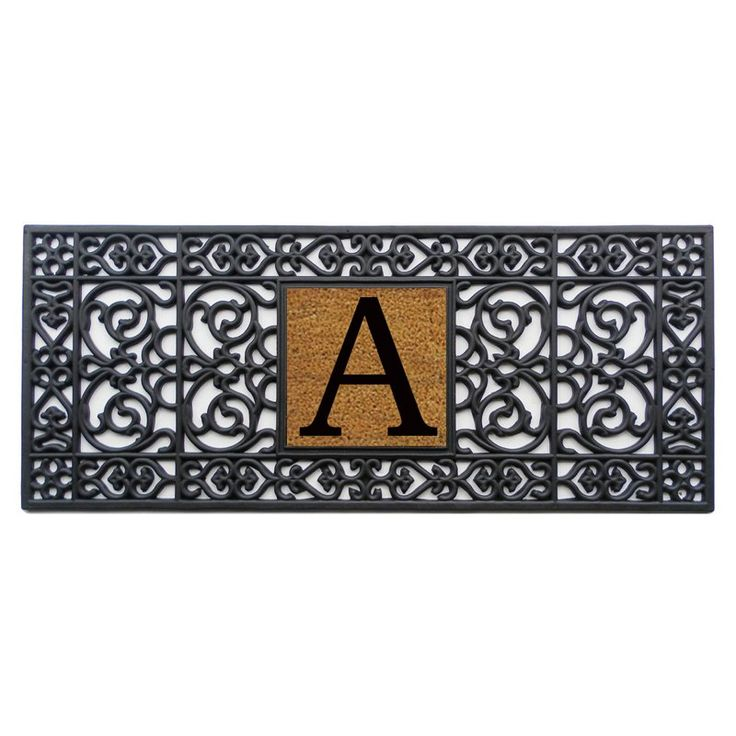 Home and More 17 x 41 Monogrammed Doormat | from hayneedle.com