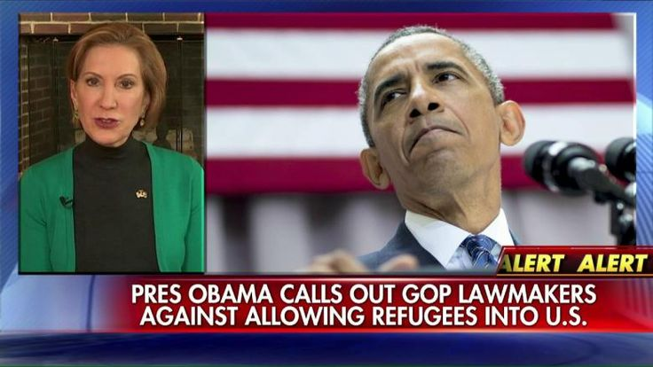 "11/18/15 - Carly Fiorina repeatedly called comments made by President Obama ""outrageous,"" in which he criticized GOP opposition to the U.S. allowing in Syrian refugees by saying they were ""scared of widows and orphans."". . .  but not a word about ISIS !!!"