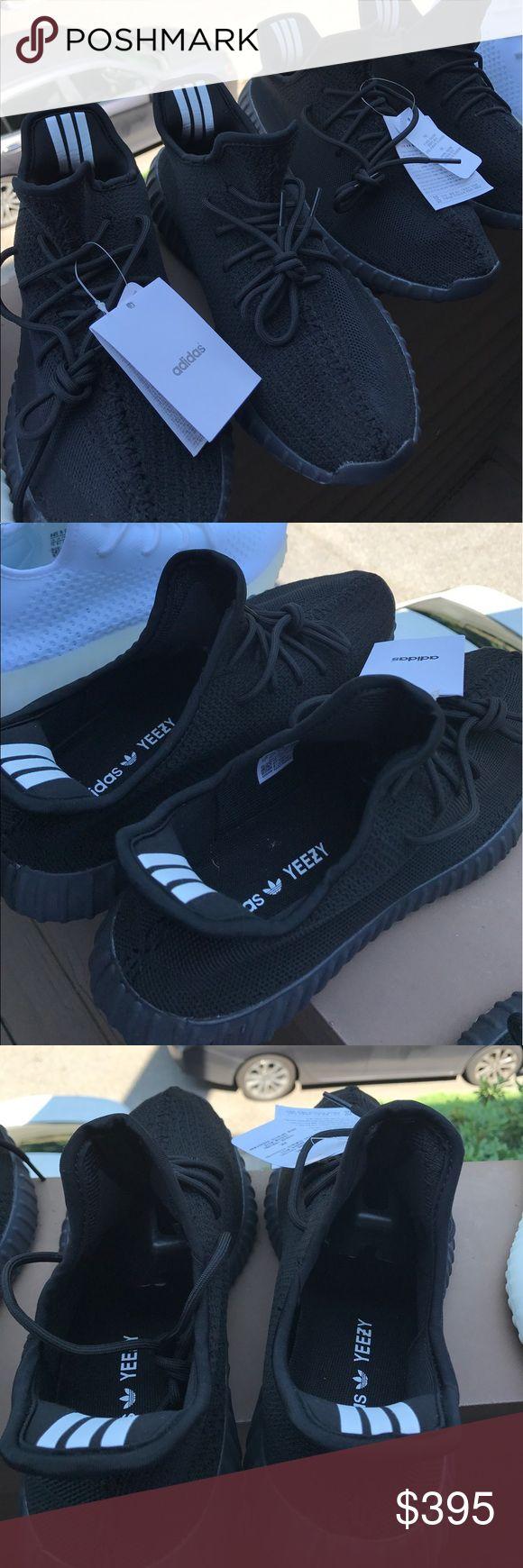 Yeezys 350 V2 Blacks Boost V2 350 All Blacks Yeezy Shoes Sneakers