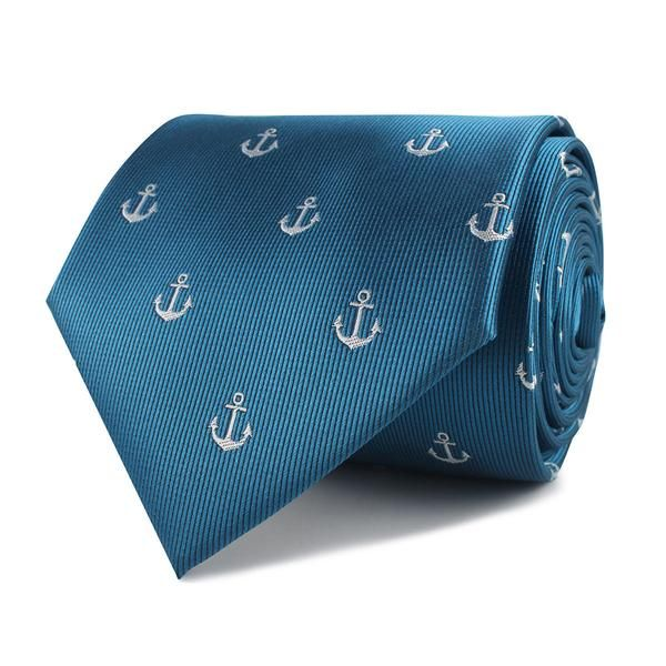 56 best ties images on pinterest pocket handkerchief pocket the otaa teal blue anchor necktie ccuart Images