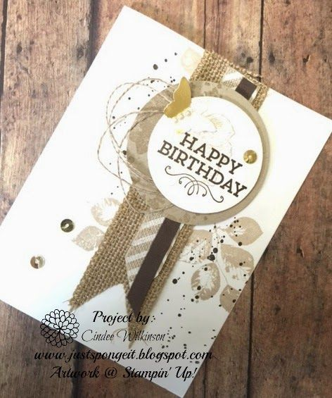 Just Sponge It: Happy Birthday, Everything Eleanor, Hey You, KInda Eclectic & Gorgeous Grunge stamp sets. DIY, Stampin' Up!, Birthday cards
