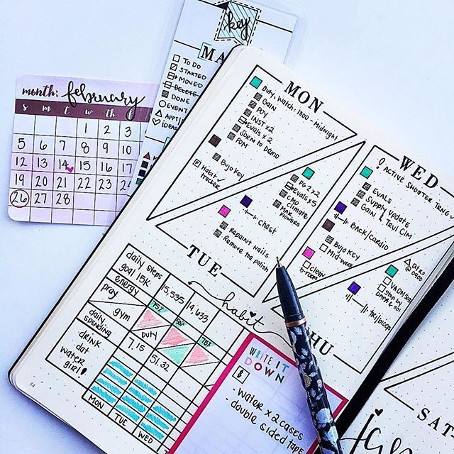 I love a good unique #weeklyspread just like this one from @_jenniifur check out her account if you're a non-traditional bullet journalist. ・・・ Happy #Humpday! Midweek in my #bujo ❣️ #bulletjournalchallenge #bulletjournaljunkies #bulletjournallove #bulletjournalcommunity #bulletjournal #plannersgonewild #leuchtturm1917 #planner #journal #artjournal #pgw #journaling #study #studyblr #studyspo #bujo #bujolove #bujojunkies #handlettering #showmeyourplanner #bujoinspire #zenofplanning #immtr...