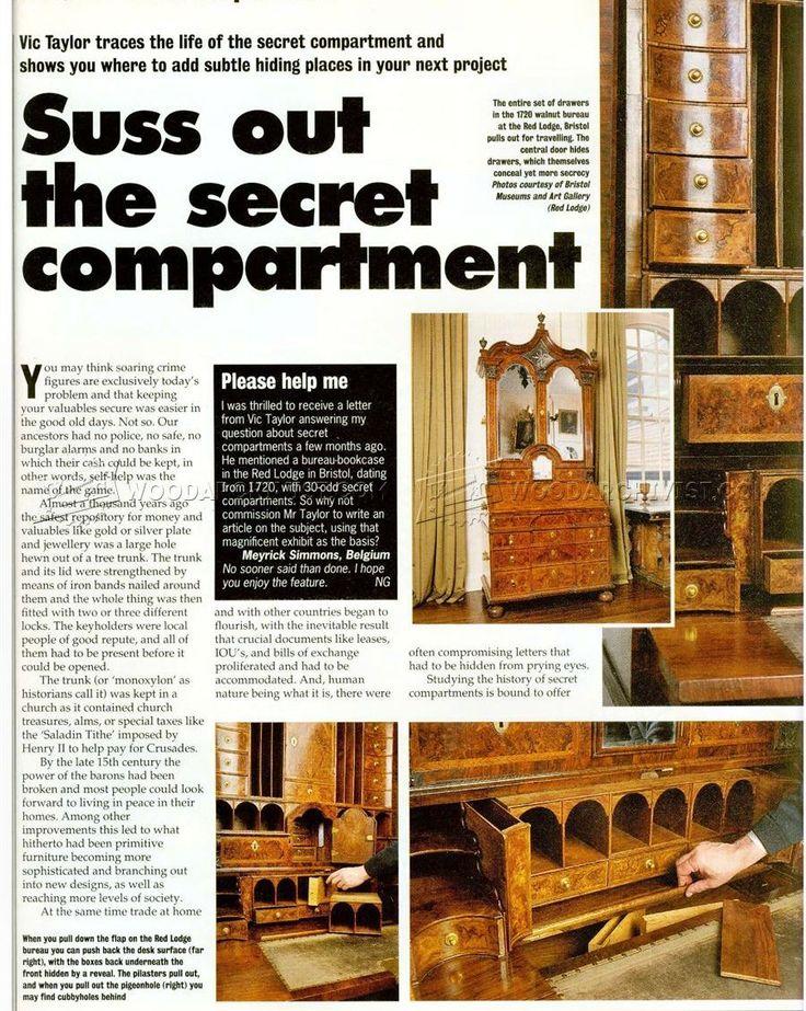 Secret Compartment Furniture - Furniture Plans