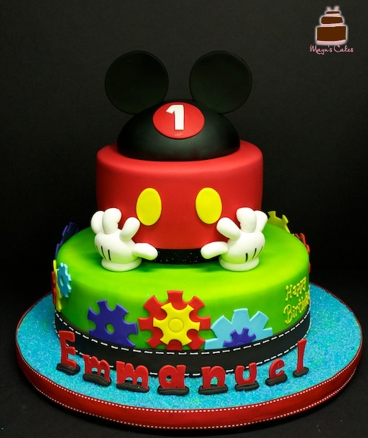 Mickey Mouse Colorful Birthday Cake