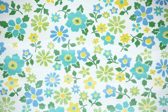 Retro Wallpaper ...1970s Wallpaper Green Leaves