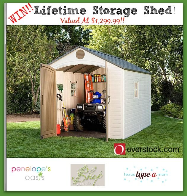 Safely store your items with the Lifetime Storage Shed From Overstock.com! #Giveaway