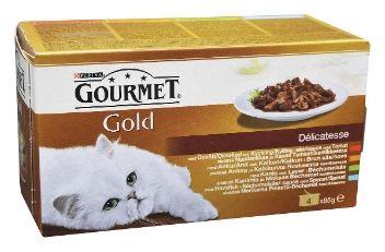 Gourmet Gold Delicatesse Kastikkeessa 4 x 85 g  - TokNet.fi -verkkokauppa 2,59€