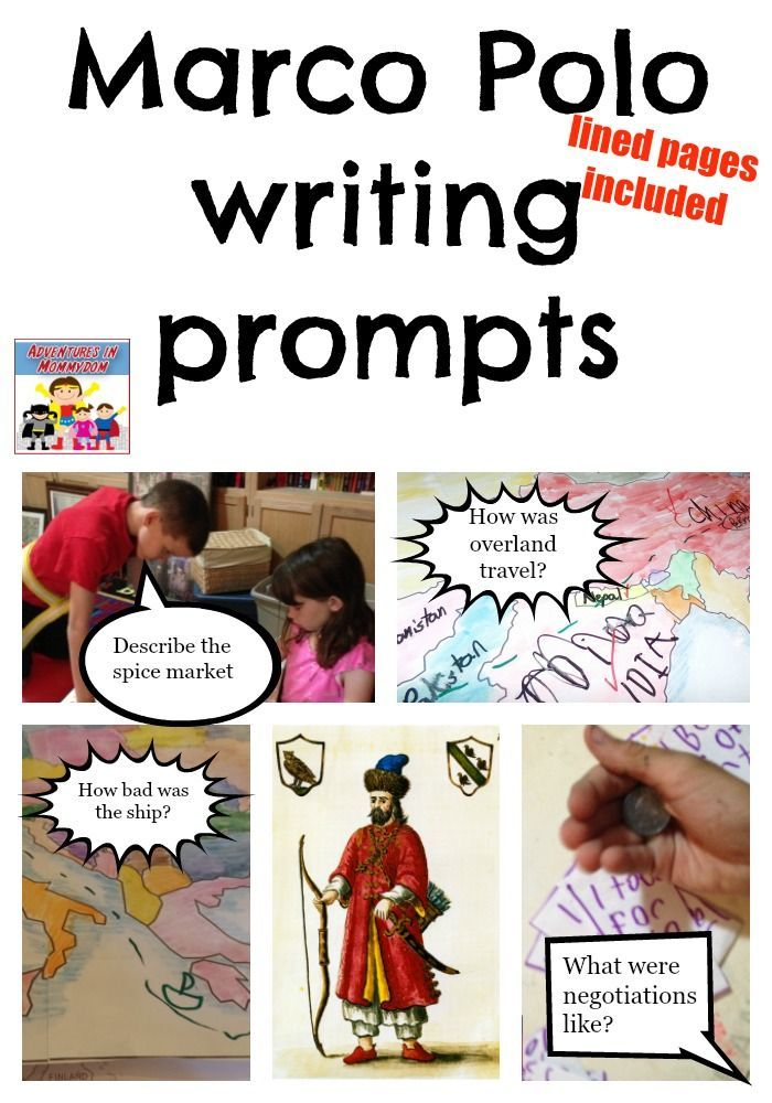 Inspire imagination with these Marco Polo writing prompts