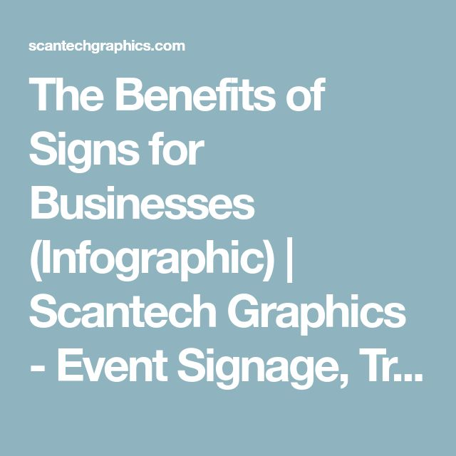 The Benefits of Signs for Businesses (Infographic) | Scantech Graphics - Event Signage, Tradeshow & Large Format Printing in San Diego